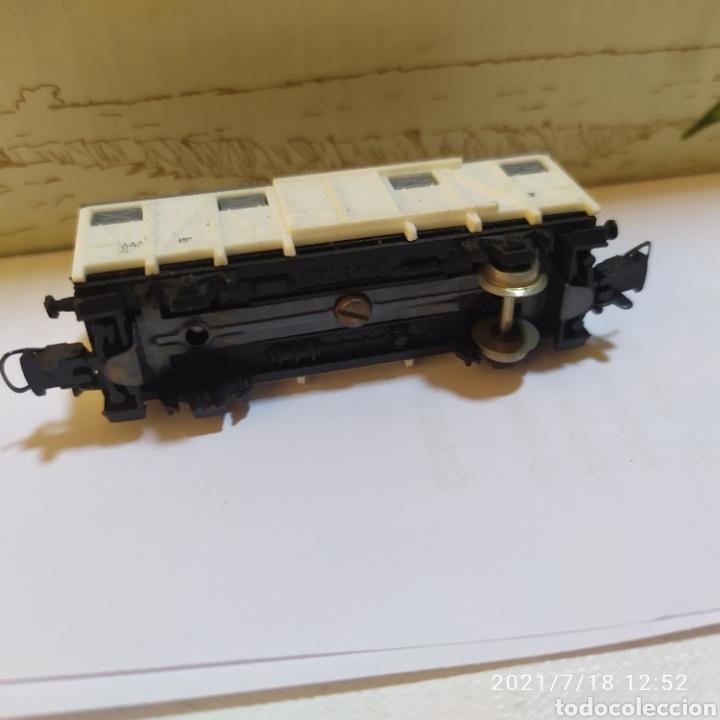 Trenes Escala: vagon mercancias blanco lima escala n falta un par de ruedas - Foto 3 - 276137533