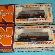 Trenes Escala: DOS LOCOMOTORAS DIESEL -CANADIAN PACIFIC- ESCALA N EN CAJA ORIGINAL. Lote 288440093