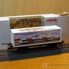 Trenes Escala: MÄRKLIN H0 VAGÓN DE CONTENEDORES MÄRKLIN CENTER 2004 NUEVO. Lote 27137739