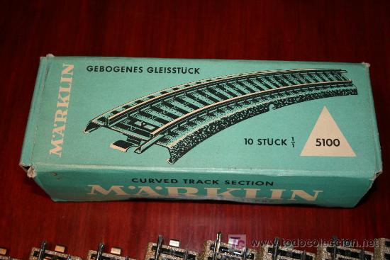 Trenes Escala: MARKLIN - CAJA CON DIEZ TRAMOS DE VIA CURVA - REF. 5100 - Foto 4 - 26515551