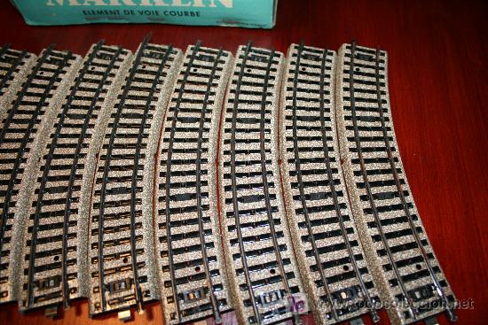 Trenes Escala: MARKLIN - CAJA CON DIEZ TRAMOS DE VIA CURVA - REF. 5100 - Foto 2 - 26515551