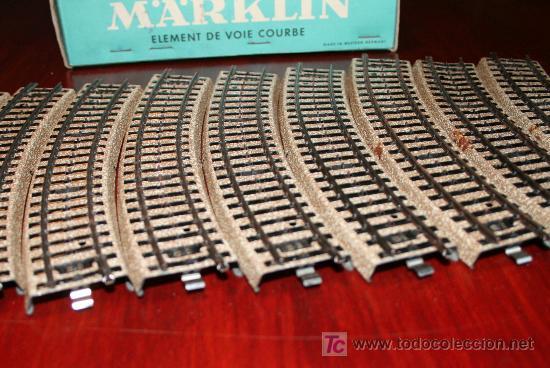 Trenes Escala: MARKLIN - CAJA CON DIEZ TRAMOS DE VIA CURVA - REF. 5100 - Foto 3 - 26515547