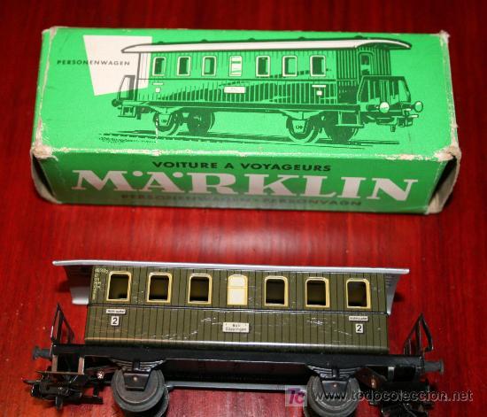 Trenes Escala: MARKLIN - VAGÓN DE PASAJEROS - REF, 4040 - CON CAJA ORIGINAL - Foto 4 - 26944816