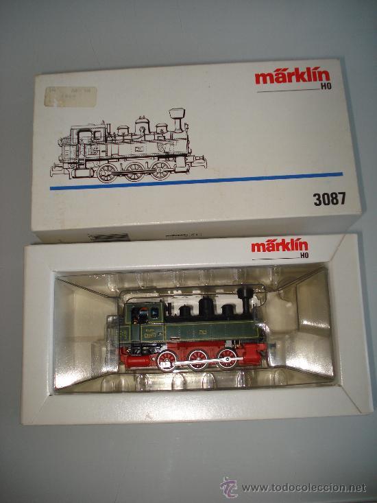 Trenes Escala: Locomotora-Tender Tipo Landerbhan Ref. 3087 de MARKLIN en *H0* Analogica C. Alterna. Año 1992 . - Foto 3 - 27367799
