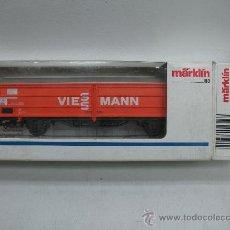 Trenes Escala: MARKLIN REF: 4728 - VAGON DE MERCANCIAS CERRADO VIESSMANN - DE LA DB - ESCALA H0. Lote 27511789