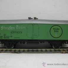 Trenes Escala: MARKLIN -VAGON DE MERCANCIAS STAUFEN BRAU -ESCALA H0-. Lote 28918823