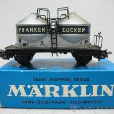 Trenes Escala: MARKLIN REF:4658 - VAGÓN CON DEPÓSITOS FRANKEN ZUCKER - ESCALA H0. Lote 32164172