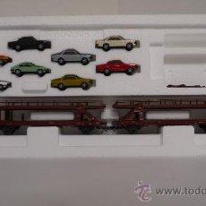 Trenes Escala: MÄRKLIN SET DE VAGONES 47124 PARA TRANSPORTE DE COCHES. Lote 46476088