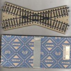 Trenes Escala: CRUCE DE VIAS PARA TREN MARKLIN Nº 5114 ALEMANIA CAJA DE ORIGEN ORIGINAL BOX. Lote 32944729