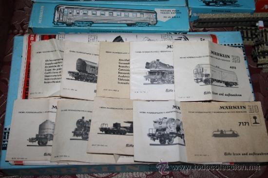 Trenes Escala: IMPRESIONANTE LOTE DE MARKLIN - CON 9 LOCOMOTORAS, 28 VAGONES, VÍAS Y MANUALES - Foto 67 - 163049145