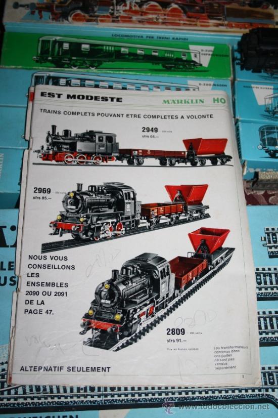 Trenes Escala: IMPRESIONANTE LOTE DE MARKLIN - CON 9 LOCOMOTORAS, 28 VAGONES, VÍAS Y MANUALES - Foto 63 - 163049145