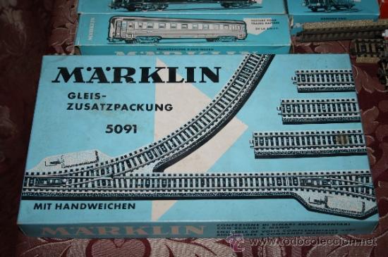 Trenes Escala: IMPRESIONANTE LOTE DE MARKLIN - CON 9 LOCOMOTORAS, 28 VAGONES, VÍAS Y MANUALES - Foto 62 - 163049145