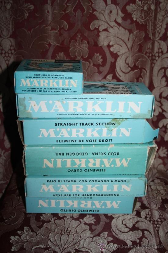 Trenes Escala: IMPRESIONANTE LOTE DE MARKLIN - CON 9 LOCOMOTORAS, 28 VAGONES, VÍAS Y MANUALES - Foto 51 - 163049145