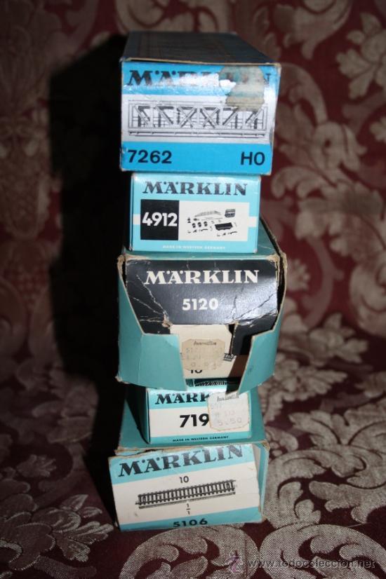 Trenes Escala: IMPRESIONANTE LOTE DE MARKLIN - CON 9 LOCOMOTORAS, 28 VAGONES, VÍAS Y MANUALES - Foto 52 - 163049145