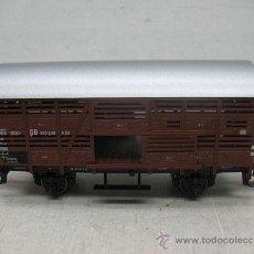 Trenes Escala: MARKLIN REF: 48881 -VAGON DE GANADO CON PUERTAS CORREDERAS,DE LA DB,-ESCALA H0-. Lote 38340942