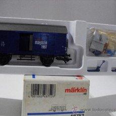 Trenes Escala: MARKLIN REF:48752 -VAGON DE MERCANCIAS MAGAZIN 1997,DB,ESC HO-. Lote 38751375
