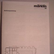 Trenes Escala: MARKLIN ESCALA H0 1:87 REF 29539 INSTRUCCIONES ORIGINALES LOCOMOTORA DIGITAL BR 81. Lote 39816797