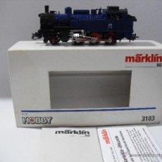 Trenes Escala: MARKLIN 3103 LOCOMOTORA DE VAPOR T 12,ESC HO,AZUL.. Lote 39902439