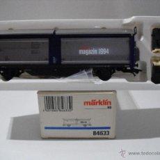 Trenes Escala: MARKLIN 84633 H0 VAGON REVISTA 1994 CON TECHO CORREDIZO DE LA DB,ESC HO. Lote 40671007