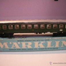 Trenes Escala: VAGON MARKLIN--EXPRESS- LUGGAGE - VAN - WITH -TAIL - LIGHTS. Lote 42895558