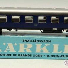 Trenes Escala: VAGÓN PASAJEROS MARKLIN H0 EN CAJA REF 4027. Lote 43909126