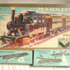 Trenes Escala: TREN MARKLIN 2941, MAQUINA PROBADA FUNCIONA, CON CAJA DOBLE CAMBIO VIA Y CAJA 9 RECTAS. Lote 44257056
