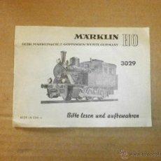 Trenes Escala: MANUAL MARKLIN . Lote 44822392
