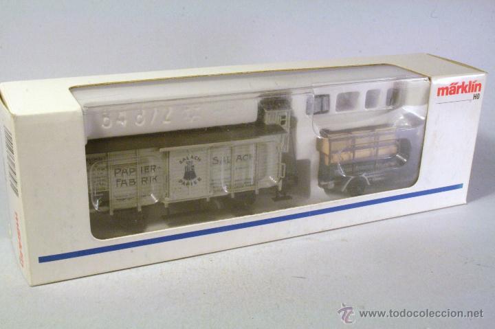 Trenes Escala: MARKLIN MUSEUM. Vagón de mercancías y camión. Edición 1993 - Foto 2 - 45513469