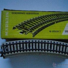 Trenes Escala: MARKLIN 10 VIAS CURVAS 5100. Lote 46223747