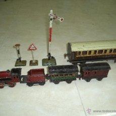 Trenes Escala: CONJUNTO DE 8 PIEZAS DE TREN MARKLIN. Lote 47975875