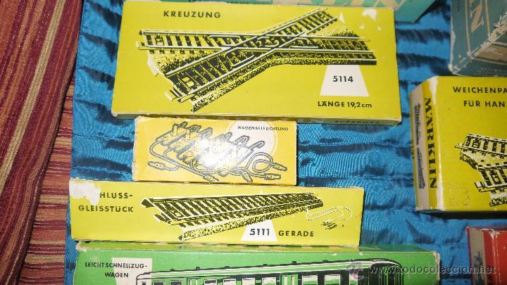Trenes Escala: FANTASTICO LOTE DE MARKLIN HO, COMPLETO,UN LUJAZO,INCLUYE LOCOMOTORA ELECTRICA REF 3038,VER FOTOS. - Foto 5 - 49168459