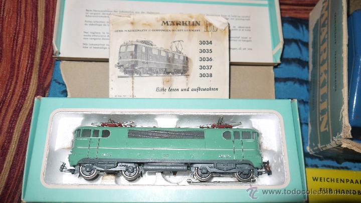 Trenes Escala: FANTASTICO LOTE DE MARKLIN HO, COMPLETO,UN LUJAZO,INCLUYE LOCOMOTORA ELECTRICA REF 3038,VER FOTOS. - Foto 13 - 49168459