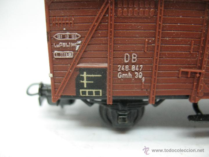 Trenes Escala: Marklin Ref: 4505 - Vagón de mercancías cerrado de la DB 248 847 para corriente alterna - Escala H0 - Foto 3 - 50151103