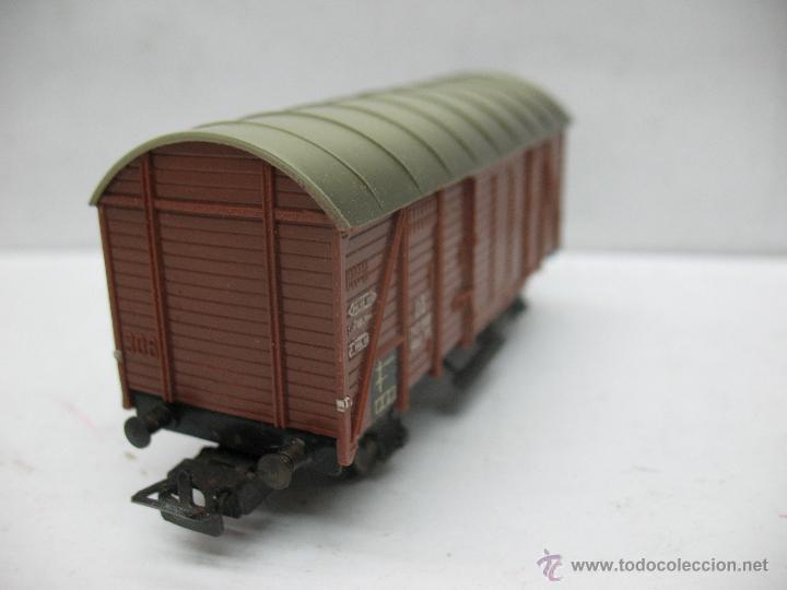 Trenes Escala: Marklin Ref: 4505 - Vagón de mercancías cerrado de la DB 248 847 para corriente alterna - Escala H0 - Foto 3 - 50151129