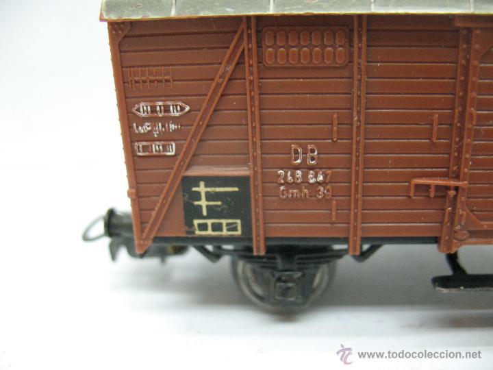 Trenes Escala: Marklin Ref: 4505 - Vagón de mercancías cerrado de la DB 248 847 para corriente alterna - Escala H0 - Foto 4 - 50151153