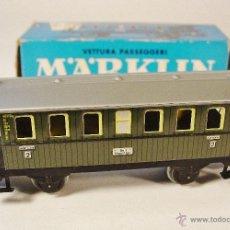 Trenes Escala: VAGON DE PASAJEROS. MARKLIN. REF. 4040. CAJA ORIGINAL. AÑOS 70. ESCALA H0. Lote 53314299