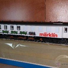 Trenes Escala: MÄRKLIN 4122 COCHE PUBLICITARIO TIPO BAUGRUPPE29 CON PUBLICIDAD MÄRKLIN. Lote 57821834