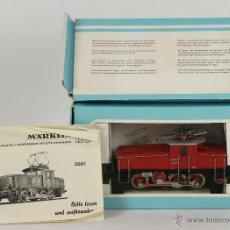 Trenes Escala: LOCOMOTORA MARKLIN MODELO 3001. CAJA ORIGINAL E INSTRUCCIONES. CIRCA 1950.. Lote 53809341