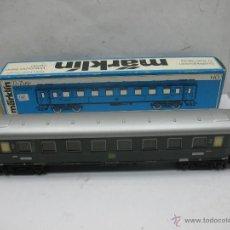 Trenes Escala: MARKLIN REF: 4037 - COCHE DE PASAJEROS METÁLICO DE LA DB 14208 STG - ESCALA H0. Lote 54824997