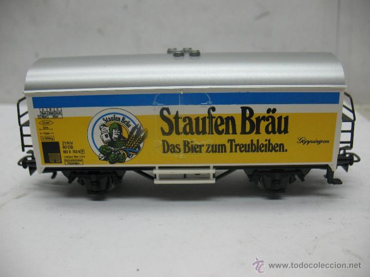 Trenes Escala: Marklin Ref: 4429 - Vagón de mercancías cerrado Staufen Bräu de la DB - Escala H0 - Foto 2 - 54905369