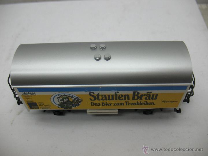 Trenes Escala: Marklin Ref: 4429 - Vagón de mercancías cerrado Staufen Bräu de la DB - Escala H0 - Foto 3 - 54905369