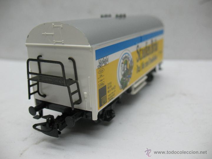 Trenes Escala: Marklin Ref: 4429 - Vagón de mercancías cerrado Staufen Bräu de la DB - Escala H0 - Foto 4 - 54905369