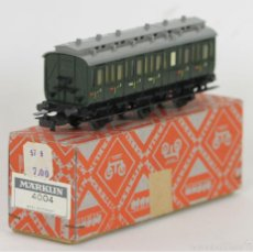 Trenes Escala: VAGON EN HOJALATA. MARKLIN. ESC H0. MADE IN GERMANY.. Lote 56296903