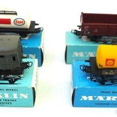 Trenes Escala: SET DE VAGONES MARKLIN ANTIGUOS 4501/4502/4600/4602. Lote 56853498