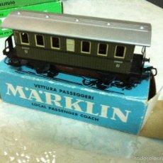 Trenes Escala: MARKLIN H0. ANTIGUO VAGON PASAJEROS, REF. 4040. CAJA. Lote 57220822