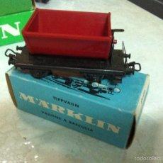 Trenes Escala: MARKLIN H0. ANTIGUO VAGON VAGONETA, REF. 4513. CAJA. Lote 57220832