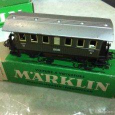 Trenes Escala: MARKLIN H0. ANTIGUO VAGON PASAJEROS , REF. 4040. CAJA. Lote 57220845