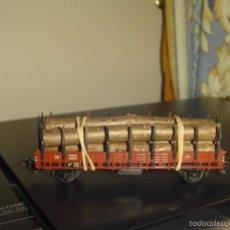Trenes Escala: MARKLIN H0. ANTIGUO VAGÓN TELEROS CON TRONCOS 4608. Lote 57283969