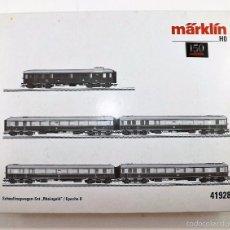 Trenes Escala: MÄRKLIN 41928 SET COMPLETO RHEINGOLD C/LUZ EPII. Lote 59956743
