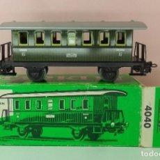 Trenes Escala: MARKLIN H0 - 4040 - VAGÓN DE PASAJEROS - CON CAJA ORIGINAL. Lote 65494066